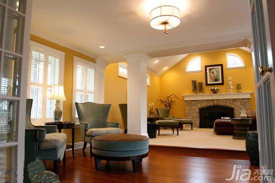 实木地板拼接术 打造暖色调生活空间